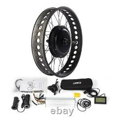 Fat E-bike Conversion Kit with KT-LCD3 Display for 20/24/26x4.0 fat tire bike