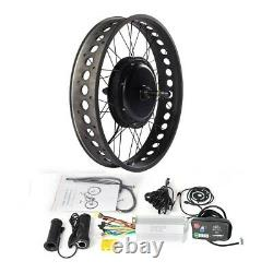Fat E-bike Conversion Kit with LED880 Display Fit for 20/24/26 x4.0 Fat Tire