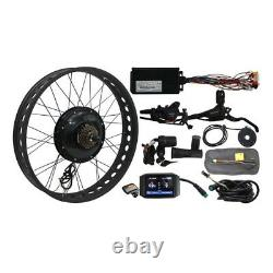 Fat Tire E-bike Kit Front Wheel 20 24 26 Hub Dropout Width 135mm 72V 1500W