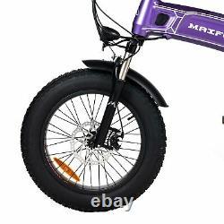 Front Suspension 1000W Electric Folding Bike MaxFoot MF-19 Snow Commuter EBike