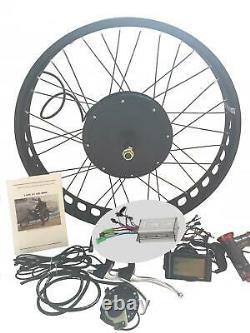 LCD + 26 4 FAT WHEEL 1000W Electric Bicycle E Bike Hub M otor Conversion Kit