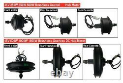 MTB E-bike Hub Motor 48V 500/1000/1500W Front/Rear Drive Motor for Mountain Bike