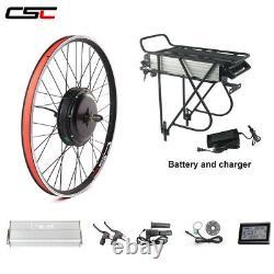 MTB Ebike Kit 48V 1500W electric bike conversion and rear rack battery pack 20Ah