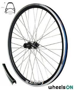 QR 26 inch WheelsON Front Rear Wheel Set E-Bike Shimano Black 8/9/10 Spd Sapim