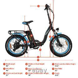 Refurbished Folding Electric Bicycle Bike Addmotor M-140 P7 Step Thru E-Bike