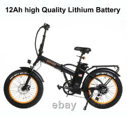 SOHOO 48V500W12A 20x4.0 Adult Folding Fat Tire Electric Bicycle Mountain Ebike