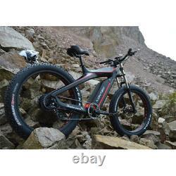 Samedi 750W Carbon Fiber Fat E Bike 26 inch Electric Cruiser Bicycle 50kmh