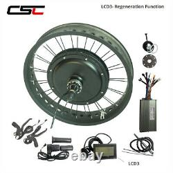 Snow Ebike Conversion Kit Fat Bicycle Wheel 36V 48V Colorful LCD8 Bluetooth