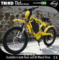 TRIAD TXcf All-Road eBike Electric Bike MTB 2X2 AWD All Wheel Drive Carbon Fiber