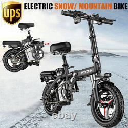14 Vélo Électrique Pliant Snow Mountain Bicycle E-bike 250w 48v Batterie Au Lithium