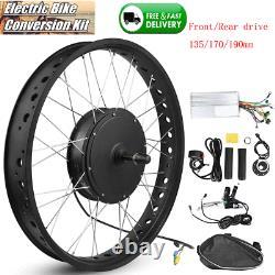 1500w Vélo Électrique E-vélo Avant / Roue Arrière Conversion Kit Hub Moteur Refit