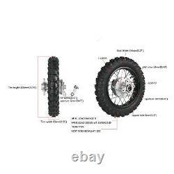 2.50 10 Avant Arrière Wheel Rim Drum Tire Crf50 Xr50 Ttr110e Vélo Et 420 Sprocket