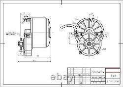 2 (deux) 250 Watt MID Drive Gear Front Mount 24 Volt Moteur Électrique Ebike Vélo