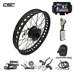 20'' 24'' 26''x4 Snow Fat Tire Ebike Kit Électrique Couleur Vélo Écran 250w 36v