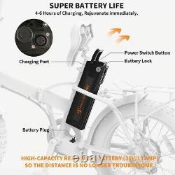 20 500w 36v Fat Tire Mountain Beach Vélo Électrique Vélo Ebike E-bike LCD