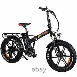 20 750w Vélo Électrique Pliant Addmoteur Motan M-150 R7 48v Pneu De Graisse E-vélo Noir