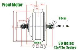 20 Roue Taille 36v 350w Moteur Avant E-bike Conversion Kit Waterproof Systerm