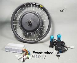 20'' Vélo De Montagne Modifié 48v-60v 500w E-bike Conversion Kit Composants Outil