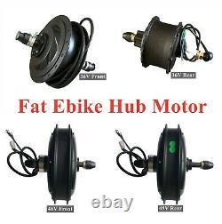24po Fat E-bike Roue Avant/arrière Avec 36/48v Hub Motor Fits For 24x4.0 Fat Tire