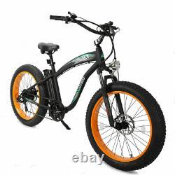 26 1000w 48v Fat Tire Mountain Electric Beach Vélo Vélo Ebike E-bike LCD