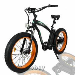 26 1000w 48volt Fat Tire Mountain Electric Beach Vélo Vélo Ebike E-bike LCD