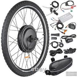 26 1000w Kit De Conversion De Vélo Électrique Avant Roue Arrière E-bike Cyclisme Avec LCD