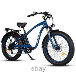 26 750w Electric Cruiser Bicycle Maxfoot Mf-18p Retro Beach Fat Tire E-bike