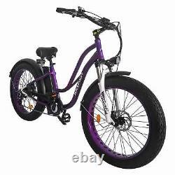 26 Électrique Bike Fat Tire E-bike 750w Maxfoot Mf-17 Batterie De Vélo Step-thru