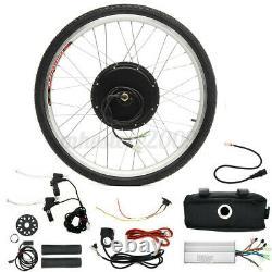 26'' Roue Avant/arrière Electric Bicycle Motor Kit E-bike Conversion 1000w 48v A+