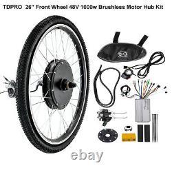 26 Traction Avant Kit Conversion 48v 1000w Motor Hub Electric Bicycle E Bike Vtt