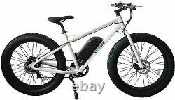 26 True 500w Electric E Bike Fat Tire Snow Mountain Bicycle Li-batterie