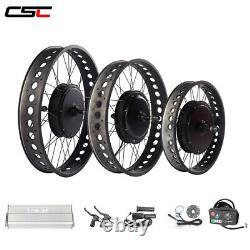4.0 Fat Tyre 20 24 26inch Snow Bicycle Electric Bike Kit 48v 1500w 1000w Ebike