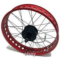 4.0'' Large Fat Tire Bike Electric Kit 20 24 26'' Bicycle Conversion Ebike Kit