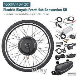 48v 1000w Roue Avant Vélo Électrique E-bike Conversion Kit Cyclisme Moteur LCD