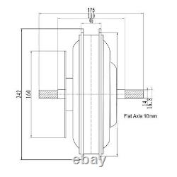 48v 1500w Ebike Brushless Gearless Mtb Hub Motor Cassette Moteur Vélo Électrique Motor