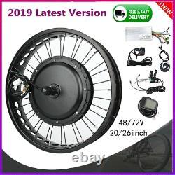 48v/72v Electric Bicycle Conversion Kit Motor Front/rear Wheel E-bike Modifiedf