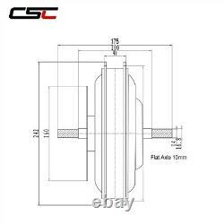 48v Brushless Non-gear Hub Motor 1000w 1500w Pour Electric E Bike Conversion Kit