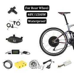 48v1500w Kit De Conversion De Moteur De Vélo Électrique Avant Ebike 26 Wheel Cycling Hub