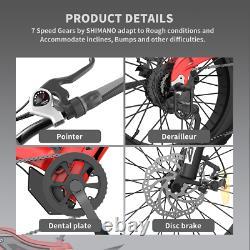 500w 20in Fat Tire Mountain Shimano E-bike 48v Batterie Beach Cruiser City Bike
