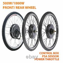 500w 26 Electric Bicycle Motor Conversion Kit Avant / Roue Arrière E Bike Pas 36v