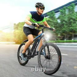 500w Electric Bike 20mph E-bike 21 Speed Amovable Battery Front Suspension Vtt