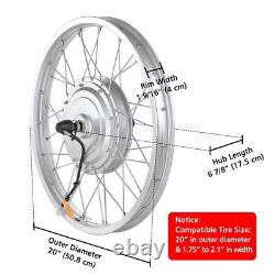 750w 20 Front Wheel Tire Electric Bicycle Ebike Conversion Kit Withmotor 36v