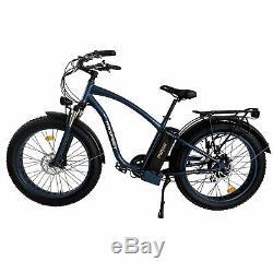 750w 26 Fat Tire Vélo Électrique Maxfoot Mf-18p Rétro Beach Cruiser E-bike