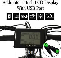 750w Electric Bike Addmoteur M-560 P7 Mountain 26 Fat Tire Ebike 12.8ah Batterie
