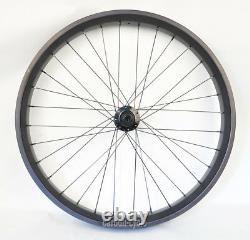 80mm Carbon Fat Bike Roue Avant Clincher 26er Rim Ud Matt Mtb Snow Qr Thru Essieu