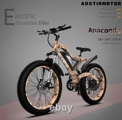 Aostirmotor 1500w Vélo Électrique Vtt 48v/15ah 26 Fat Tire E-bike Us