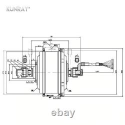 Brushless Gear Hub E-bike Motor For Electric Bike Mxus Xf07 24v 36v 48v 250w Nouveau