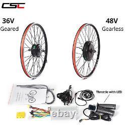 E Bike Motor Conversion Hub 48v 36v 20 24 26 17.5 28 29 Pouces 700c Motor Hub