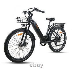 E-bike Pour Hommes Et Femmes 26 Pouces Electric City Bike E-communicateur 500 Watt 48 V