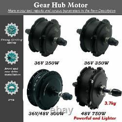 Ebike Elektrisch Vélo Brushless Front Rear Wheel Gear Hub Motor Conversion